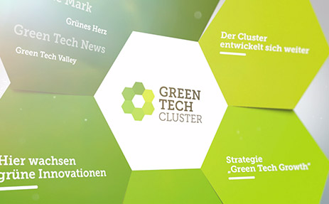 Green Tech Cluster - 3D Folderanimation